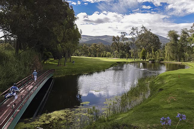 QUITO, ECUADOR - JUNE 04: A course scenic of the   17th hole green and farway during the final round of the PGA TOUR Latinoamerica Quito Open presentado por Diners Club at Quito Tenis y Golf Club on June 4, 2017 in Quito, Ecuador. (Photo by Enrique Berardi/PGA TOUR)